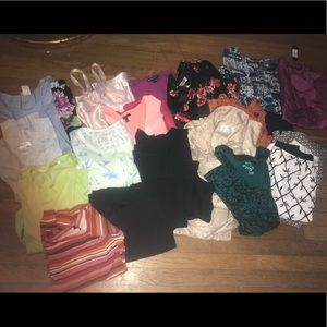 22 piece women's plus size lot skirts tops Talbots